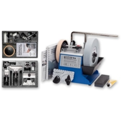 Tormek T-4 With hand and woodturners tool kits