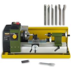 Proxxon FD 150/E Lathe & 6 Piece Cutting Tool Set