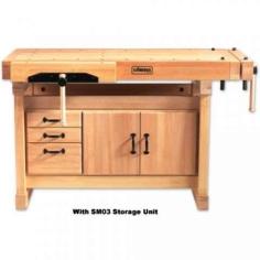 Elite 1500 Cabinetmaker's Bench c/w Storage Module SM03