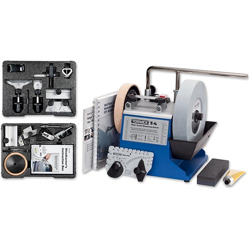 Tormek T-4 Sharpening System with hand tool kit & Woodturners kit - 720738