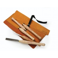 Robert Sorby 5HSTLR 5 piece tool set in leather roll