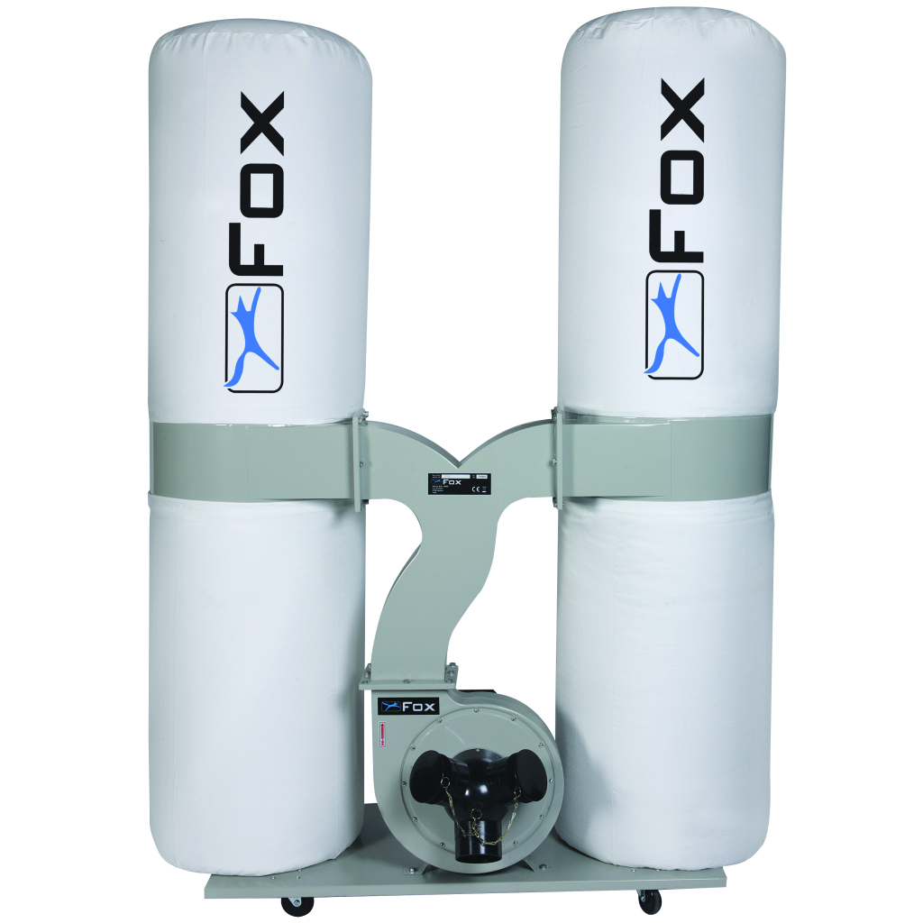 Fox F50-843 3hp Twin Bag Dust Extractor