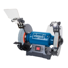 Specification Dimensions L x W x H: 360 x 220 x 255 mm Disc size Ø / bore Ø: 200 / 15.9 mm Sanding disc grit: K36 / K60 Speed: 2850 rpm Motor: 230 – 240 V~ Input: 500 W