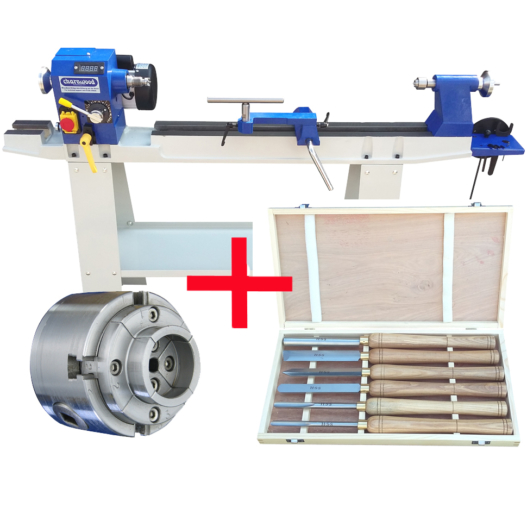 Woodturning Lathe with W836 with VIPER3 Chuck