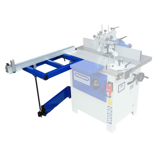 Charnwood W050ET spindle moulder square table with telescopic support for W050
